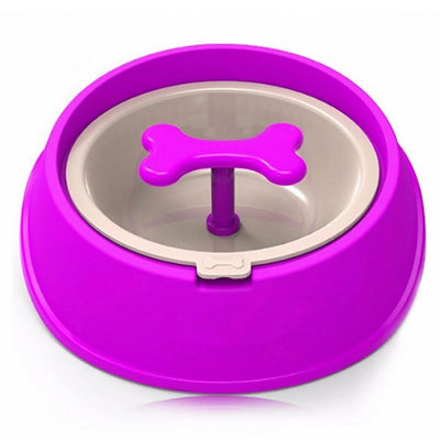 Slow-Feeder Dishes Puppy Water-Bowl Dog-Food-Bowls Small Large Pet-Feeding Driking