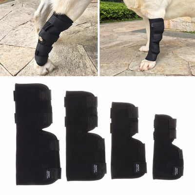 Black Legs Brace Pet Dog Knee Hock Protector Dogs Pad Therapeutic Support Shockproof Outdoor