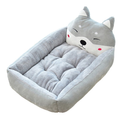 pawstrip Cute Pet Winter Dog Bed Sofa Soft Warm Bed House Cartoon Small Dog Bed Cushion