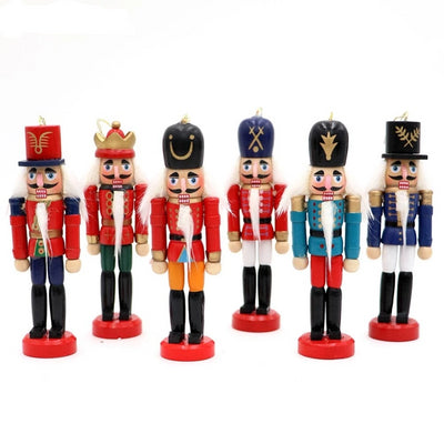Ourwarm Hanging-Pendant Soldiers-Band-Doll Nutcracker Desktop-Decoration Wooden Xmas-Tree