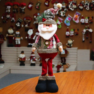 Standing-Doll Ornament Christmas-Tree-Decor Reindeer Santa-Claus New-Year Snowman