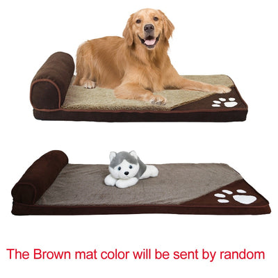 Pawstrip Large Dog Bed-House Pillow Dog-Sofa-Beds Labrador Husky Fleece Soft
