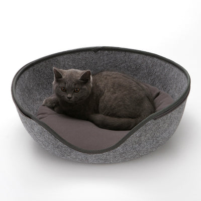 PAWZ Road Egg Shape Cat Bed Sleeping Bag Zipper Felt Cloth