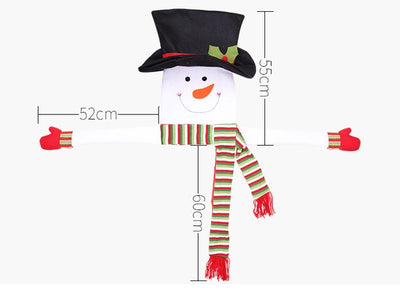 Large Snowman Christmas-Decorations Home Outdoor with Scarf Hat Hanging New-Year Dinner