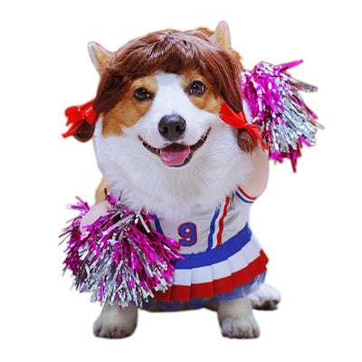 Funny Pet Costume Ball Game Cheerleaders Cosplay for Cats