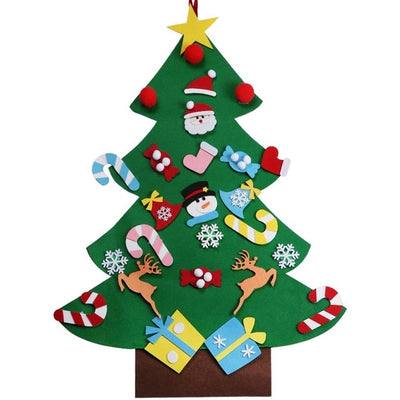 OurWarm Felt Christmas Tree with Ornaments Toddler New Year Toys DIY Craft  Artificial Tree