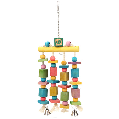 Parrot-Toys Cockatoo-Stand Macaw Bells Pet-Product Swing Hanging with Bites Chew-On-Cages