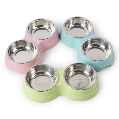 Dog Cat Feeder Bowl Feeding Station Tray with Stand Animal