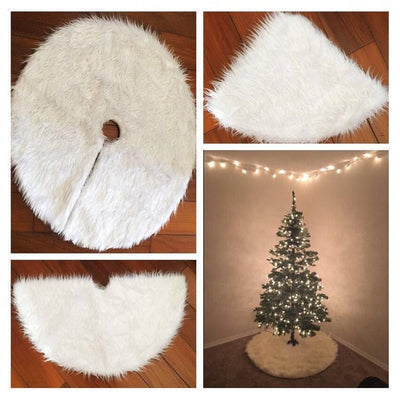 Skirts Carpet Decor Christmas-Tree White Outdoor 1PC Home Event Plush Fur Party Creative