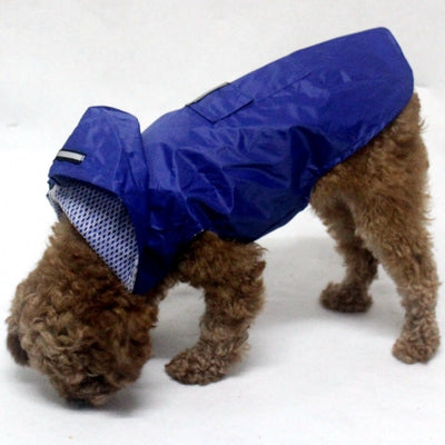 Dog Raincoat Poncho Puppy Reflective Waterproof Breathable Pet Large Small Mesh Outdoor