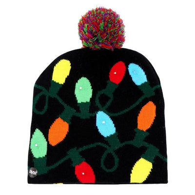 Ourwarm Hat Sweater Christmas-Hat Knitted Adult Children Light-Up LED for Beanie Ugly