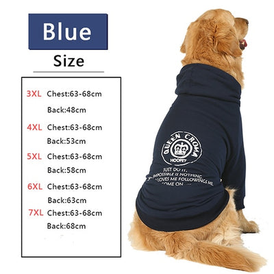 HOOPET Large Dog Clothes French Bulldog Overcoat Hoodie Pet Winter Jacket for Dogs Big