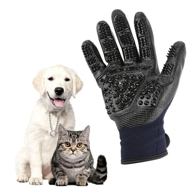 1 Pair Pet Grooming Gloves Dog Hair Cleaning Brush Comb Rubber Five Fingers Deshedding