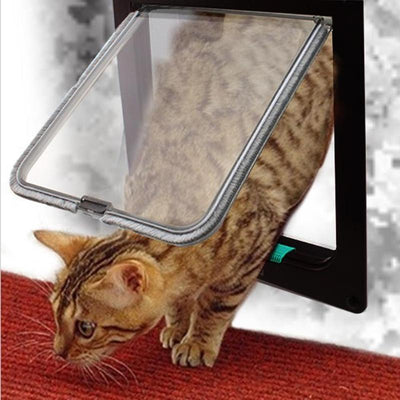 VKTECH 4 Way Lockable Kitten Door Security Flap ABS Plastic