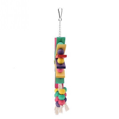 New Style Pet Parrot Toys Wooden Hanging Cage Toys for Parrots Bird Funny Hanging Hanging