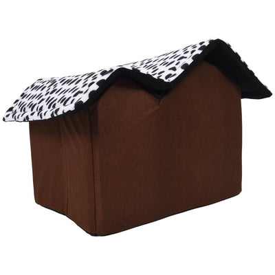 Pet-House Legowisko Luxury Cat-Bed Dog Dog-Room Soft Brown High-End 55x40-X-35cm Psa