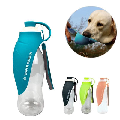 Mysudui Dog-Bowl-Feeder-Tray Travel-Dispenser Water-Bottle Expandable Drink Silicone