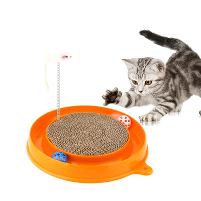 VKTECH Cat Toys Cat Scratch Board Mouse Toys for Cats
