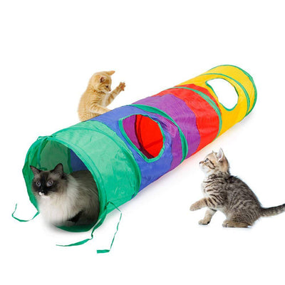 Play-Toy Puzzle Cat-Tunnel Exercising Kitty Practical Training Outdoor Collapsible