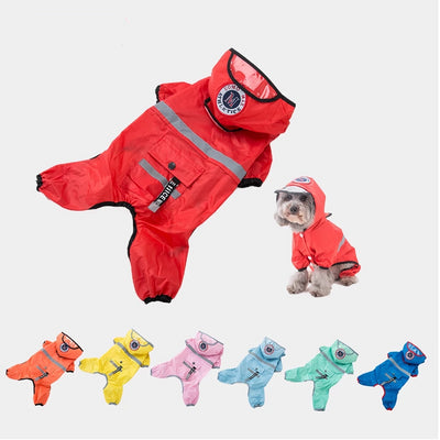 Hipidog Jumpsuit Raincoat Waterproof Dog-Translucent Chihuahua for Small Yorkshire Overalls