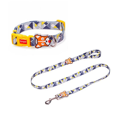 Dog Collars Fashion Designer Print Non-Escape Nylon Dog Harness Breakaway Quick Release