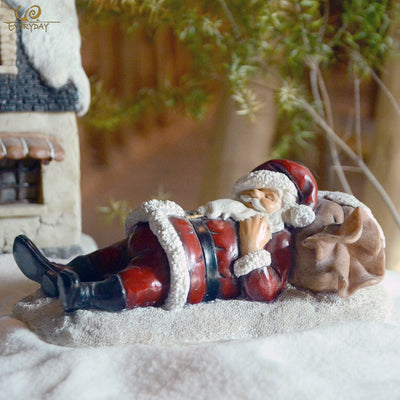 Decoration Christmas-Ornament Santa-Claus Everyday-Collection for Home Resin