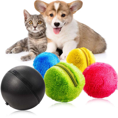 Practical 2 Set Magic Dog Cat Automatic Roller Toys