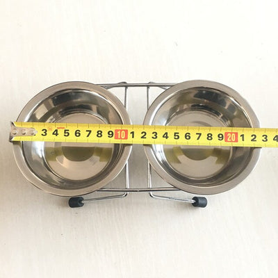 Pet-Supplies Iron-Stand Dog-Bowl Water-Dishes-Feeder Food Stainless-Steel Comida Pet-Dog