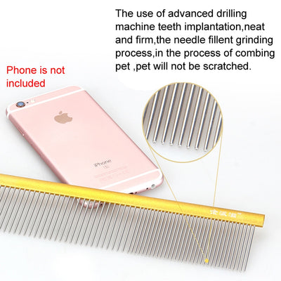 Comb Grooming Hair Pet-Trimmer Dog-Clipper Anti-Static Stainless-Steel Puppy Straight Dressed