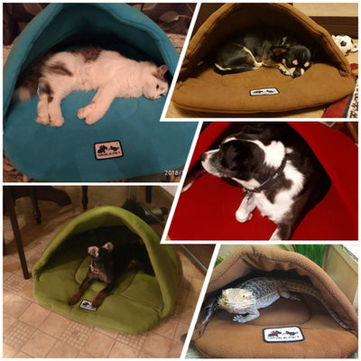 Kennel-House Nest Heated-Mat Dog-Beds Puppy Pet-Sleeping-Bag Warm Small Polar-Fleece