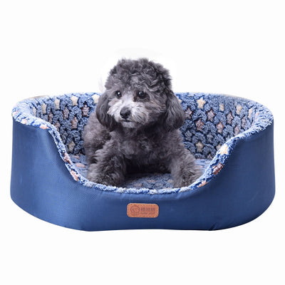 Bed Sofa-Mat Detachable Puppy-Cat-House Pet-Dog Paw Dogs Fleece Comfortable Small Coral