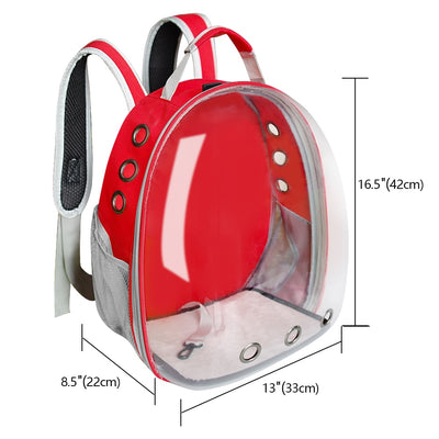 Breathable Pet Cat Carrier Bag Transparent Space Pets Backpack Capsule Bag For Cats