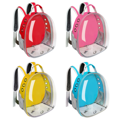 Cat Carrier Bag Breathable Transparent Backpack Cats Box Cage Kitty Travel Carrier Handbag