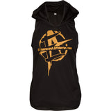 Black/Gold Premium Hoodie Stringer - Enhanced Athlete Store