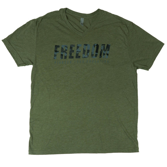 Camo Green FREEDOM V-Neck - Enhanced Athlete Store