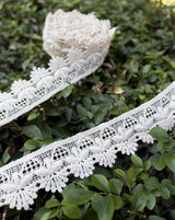 Dyeable cotton Floral petals lace