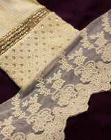 Dyeable cotton lace in execuisite design