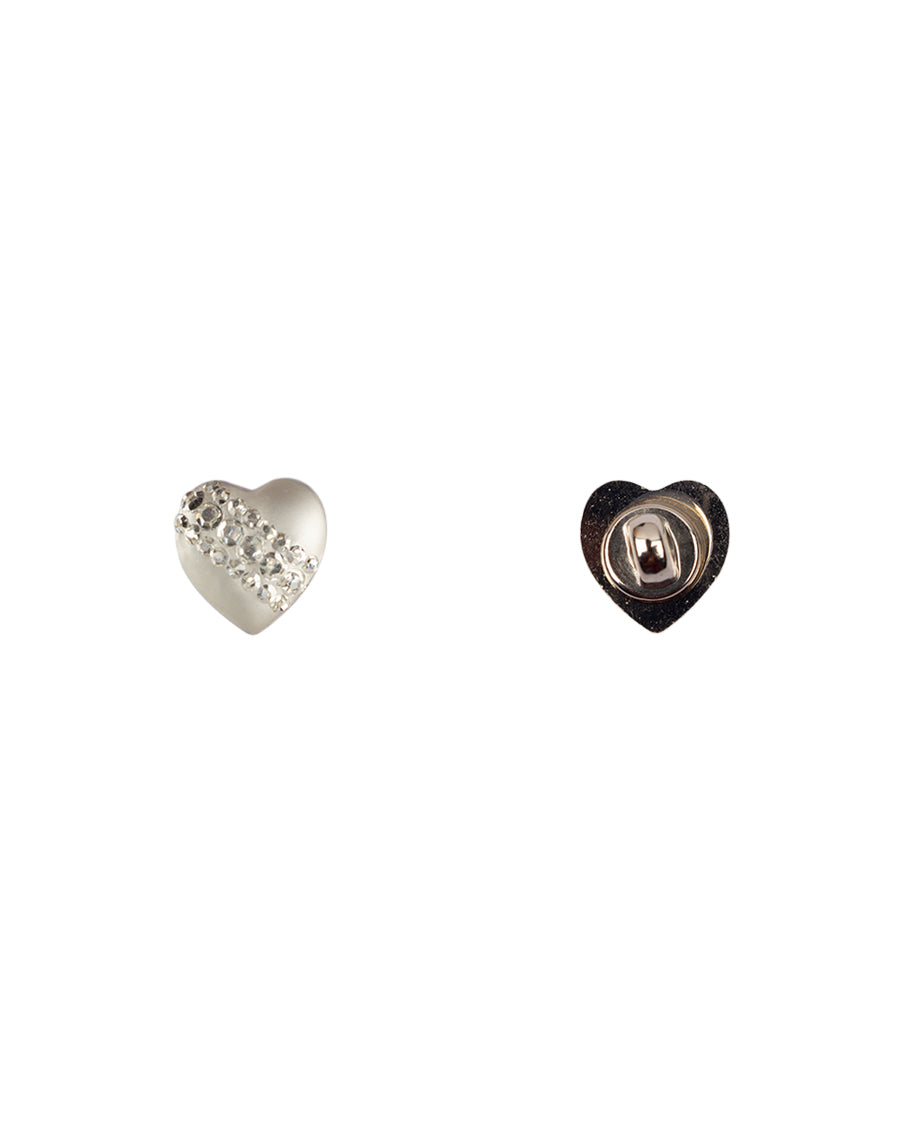 Heart Shape Pearly lustre Shank Button