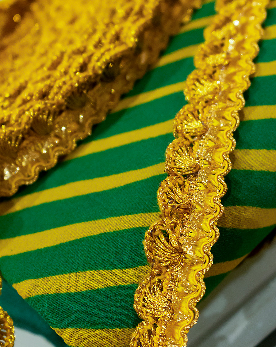 Scallop Thread Lace-Yellow