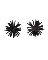 Handmade Bugle Bead Star Patch-Black