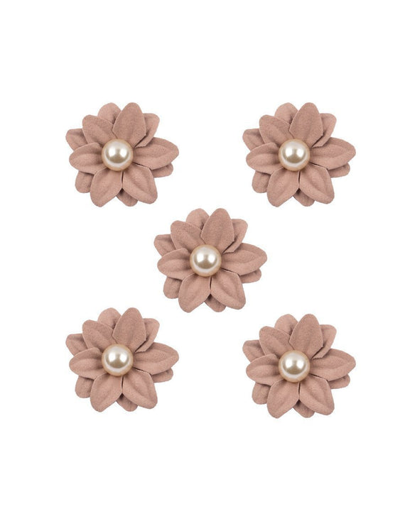 3D flower patch with Pearl Stone LIGHT PINK