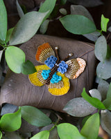 Sequins Butterfly Patch-Yellow