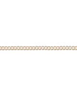 Gold Plated Oval shape beige colored Metal Chain