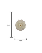 3D flower patch with Rose centre and Rhinestone-CREAM
