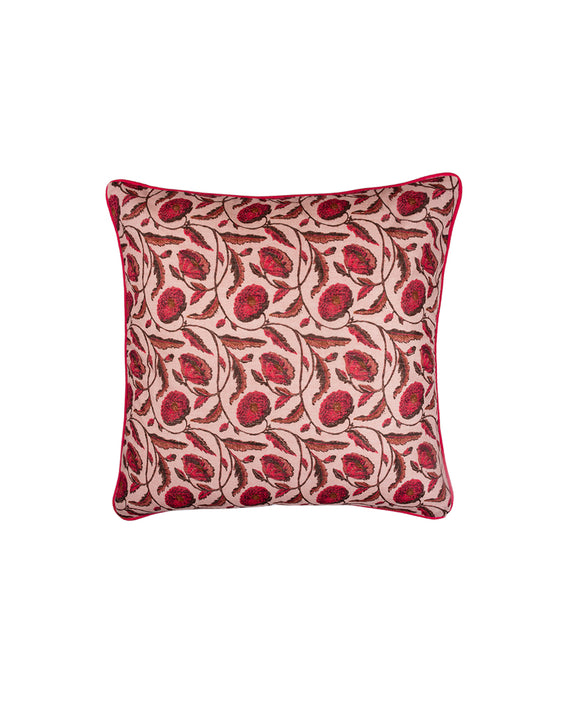 Pink Flower Cushion Cover