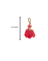 Big Round Pearl and Pentagon Tassel-Pink
