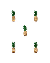 Small Pineapple Alloy Button