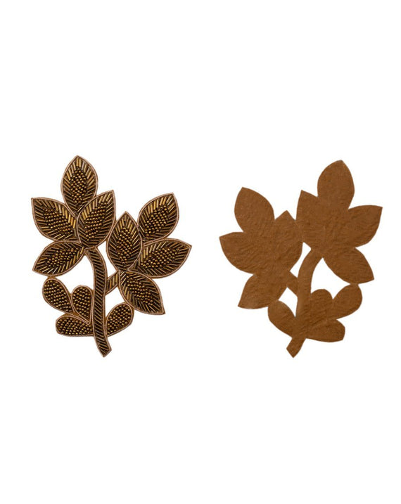 Leaf Cut daana Patch-Copper