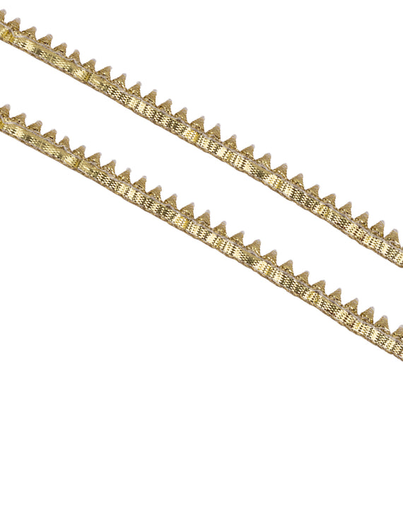 Thin Triangle Lace Border-Water Gold