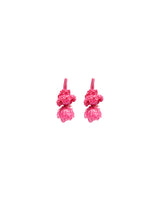 Hanging pearl and crochet Tassel / Latkans-Hot Pink